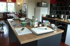 Neue Küche mit dem großen Kochinsel